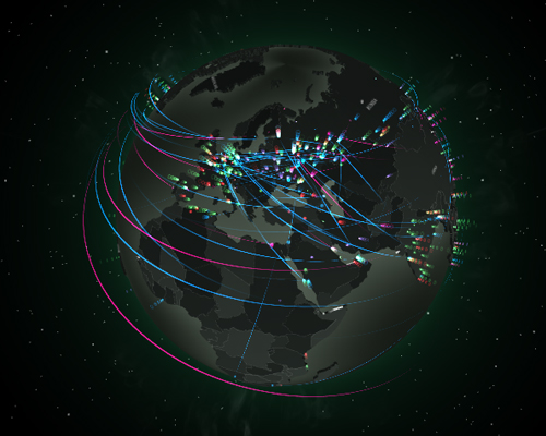 Real Time Internet Traffic Map.Map Kaspersky Cyberthreat Real Time Map